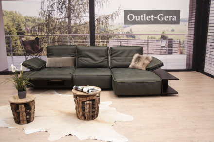 gyform modell five eckgarnitur in leder green muschio outlet. Black Bedroom Furniture Sets. Home Design Ideas