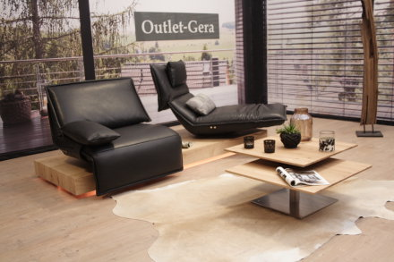 Koinor KOINOR Modell EDIT 3 Sofa C in Leder schwarz