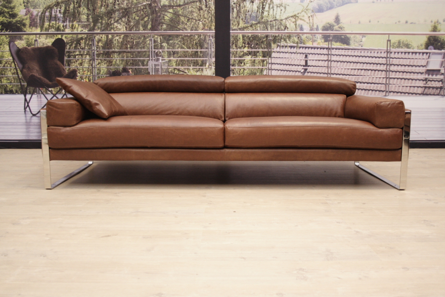 calia italia romeo sofa in leder karma 601 chocolate ebay. Black Bedroom Furniture Sets. Home Design Ideas