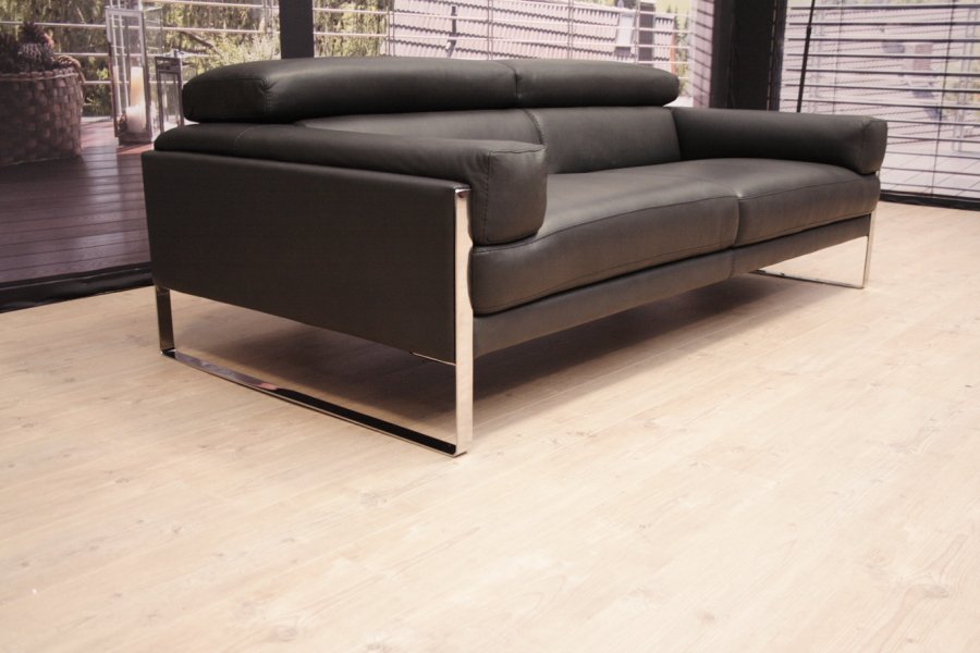 calia italia romeo sofa in leder pure asfalto 4114 outlet. Black Bedroom Furniture Sets. Home Design Ideas