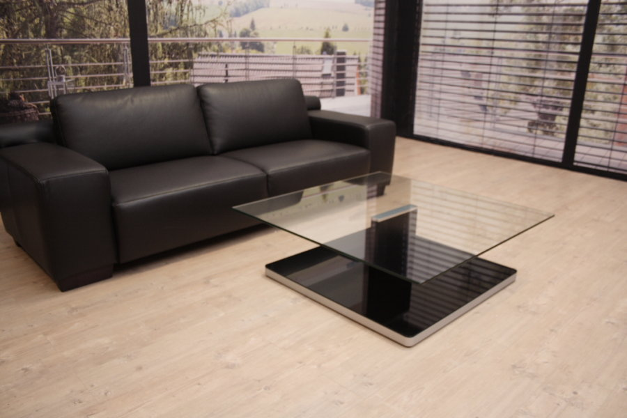 ronald schmitt f r rolf benz couchtisch modell 8160 klar schwarz ebay. Black Bedroom Furniture Sets. Home Design Ideas