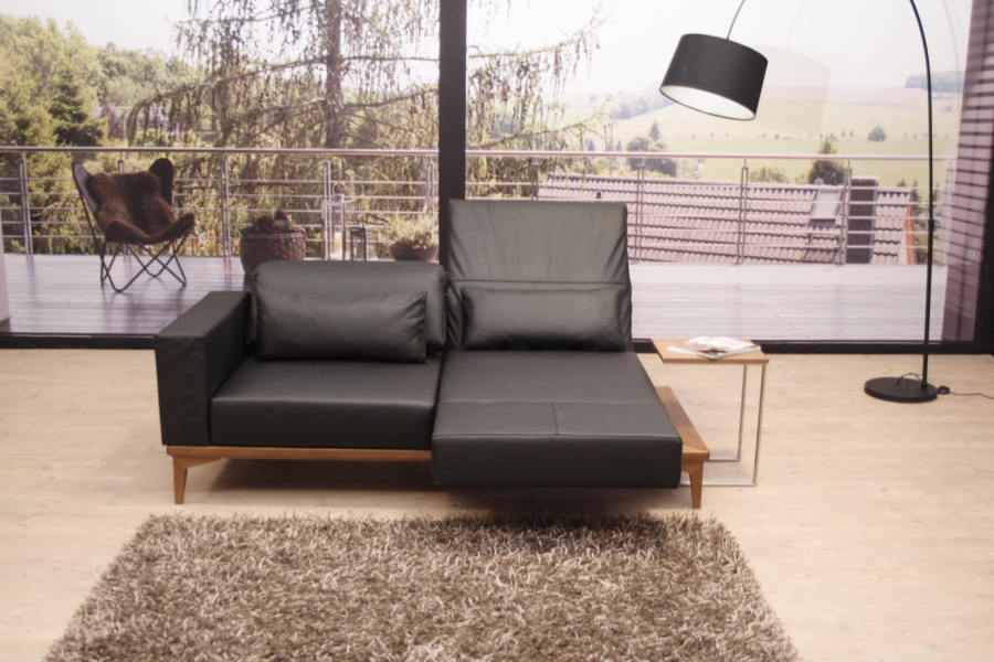 franz fertig modell mito multifunktionssofa einzelsofa in leder napoli schwarz ebay. Black Bedroom Furniture Sets. Home Design Ideas