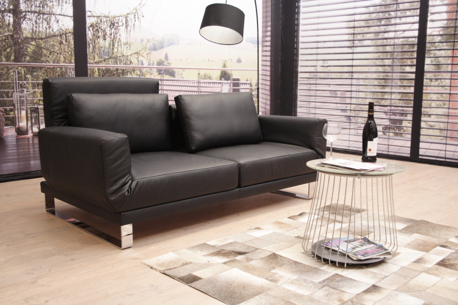 modell riga xl multifunktionssofa einzelsofa in leder napoli schwarz ebay. Black Bedroom Furniture Sets. Home Design Ideas