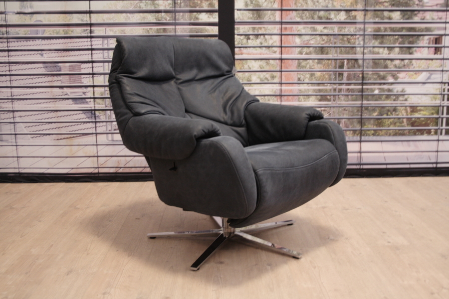 Himolla 7738 sessel in leder buffalo atlantik for Designklassiker sessel leder
